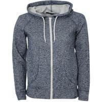 6501 - Speckled sweatshirt fabric, brushed back, BLACK/WHITE